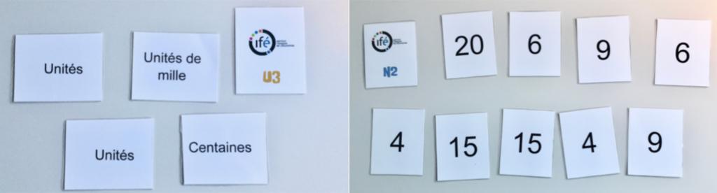 Sélection cartes Nombre et Unité de numération